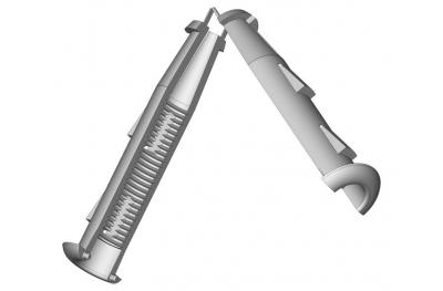 Pièce à 5mm Cardine M12 Rasage mur ESINPLAST