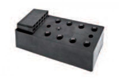 Élément de montage avec charnière résine pour Manteaux 80mm ESINPLAST