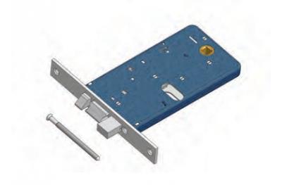 Pêne dormant et loquet de verrouillage Omec Aluminium Gamme électrique