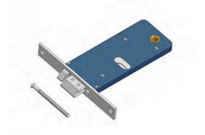 Verrou avec serrure flux d'écoulement d'exclusion Omec Aluminium Gamme électrique