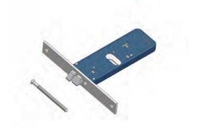 Omec pas réversible loquet de verrouillage Gamme Aluminium électrique