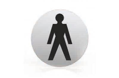 Pictogramme pour buse de bain WC rond hommes TROPEX