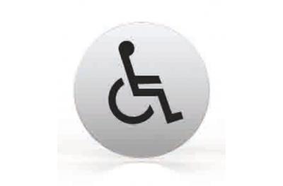 Pictogramme pour buse toilettes baignoire ronde handicapés TROPEX
