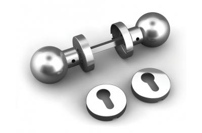 Double Knob Sphère avec bouches de la planche et l'acier inoxydable TROPEX