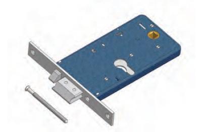 Latch avec le flux Omec serrure électrique dans la gamme pour l'aluminium