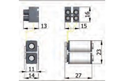 Bobines Groupe Omec serrure électrique dans la gamme pour l'aluminium