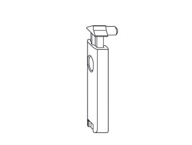 Loquet Support de verrou Balcon Confort accessoire Siegenia Titan