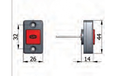 Bouton Ouverture mécanique avec des vis Omec serrure électrique dans la gamme