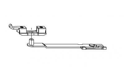 Porte bras limiteur d'ouverture Siegenia Titan Accessoire pour PVC