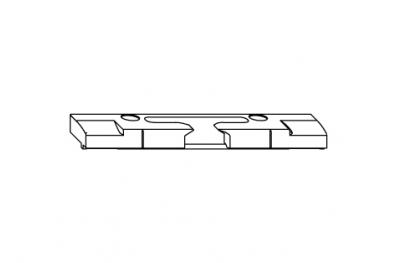Retournement horizontal reflète S-ES-FH Siegenia Titan pour le seuil de PVC
