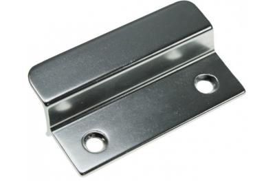 Petite poignée en aluminium argenté pour portes françaises extérieure HEICKO Segatori