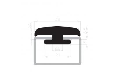 Joint tenant le verre se Complastex 10mm White Box 25m de bobine