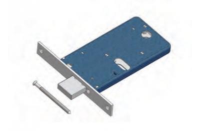 Omec gamme de serrure à pêne dormant pour Mécanique Aluminium