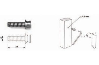 Kit de fixation TROPEX 01 pour mitigeur