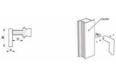 Kit de fixation TROPEX 06 pour mitigeur