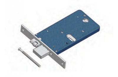 Rouleau réglable et serrure à pêne dormant pour Mécanique de gamme Omec Aluminium