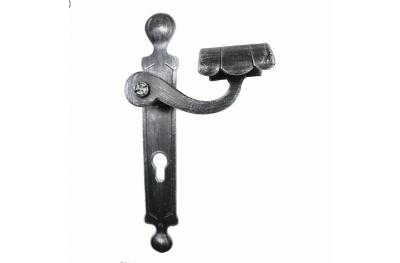 2036 Poignée ronde Portes en fer forgé pour plaque de Lorenz Ferart