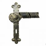 2041 Poignée Portes en fer forgé pour maître de la plaque Lorenz Ferart