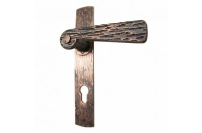 2058 Poignée Fausse plaque en bois Fer forgé Portes de Lorenz Ferart