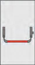 Poignée Panic Omec Composition pour portes à un vantail verrouiller un point