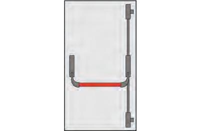 Poignée Panic Omec Portes Composition porte deux ou trois points clôture