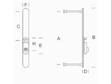 2CT.DFN.0000.44 plaque blindée de sécurité et de protection pour cylindre