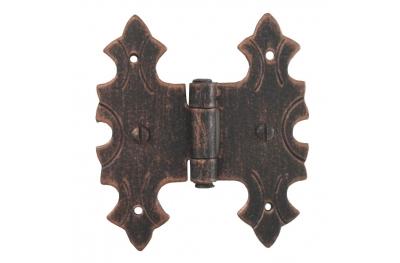 3071 Double charnière pour portes et meubles en fer forgé Lorenz Ferart