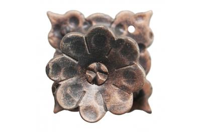 3186 fleur avec des pétales Bouton de meubles en fer forgé pour Lorenz Ferart