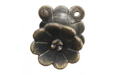 3188 Bouton en fer forgé floral pour meubles Lorenz Ferart