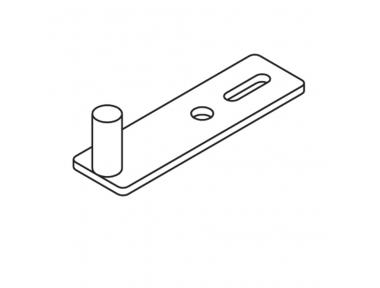 Plaque de fermeture JO Pin mur le long de Matt Black