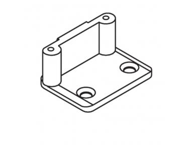 Plaque de fermeture JO Angle Pins D = 8mm Sans ancres avec les vis