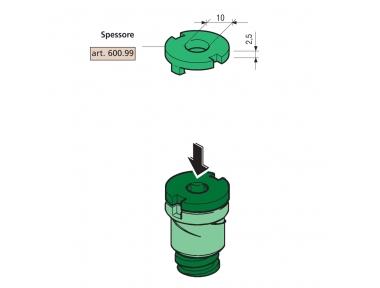 Epaisseur de 2,5 mm pour Proni Spacers Compatible Série 600 et 800