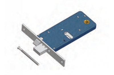 Pêne dormant et loquet de verrouillage pour Mécanique de gamme Omec Aluminium
