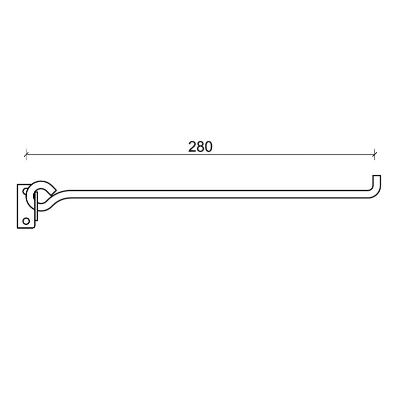 1 CiFALL Puntelletto Double plaque Foré pour volets quincaillier mesures
