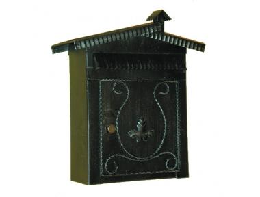 6008 Boîte aux lettres avec toit et cheminée en fer forgé Artisanat Lorenz