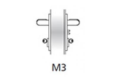 Poignée d'urgence Kit Ninz M3 porte coupe-feu en plastique noir s = 60mm