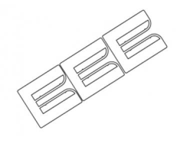 Planche 3 Claps EP Vit 40x36mm Conf. 100 Pcs