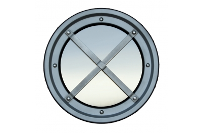 Rambarde métallique en acier inoxydable de hublot AISI 304 Type C Raised