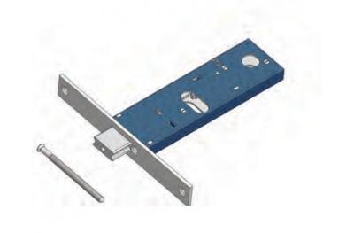 Serrure à pêne réglable pour Mécanique de gamme Omec Aluminium