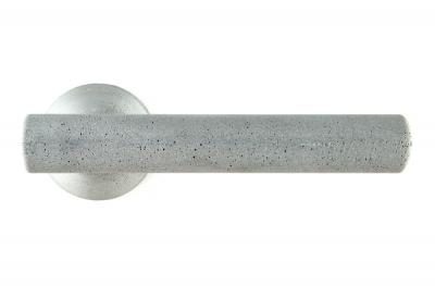 Poignée Juno Ciment Couleur Frêne pour Porte sur Rosette du Designer Dubini pour Mandelli