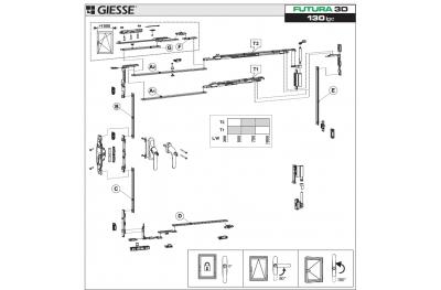 Anta Ribalta 3D Futura pour Cremonese Logic Configuration de base Giesse