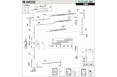 Anta Ribalta 3D Futura pour Hammer configuration Giesse Basic