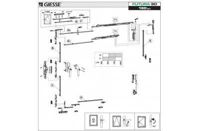 Anta Ribalta 3D Futura pour Hammer Logic Configuration de base Giesse