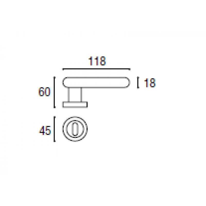 Poignée Sony Sicma avec Rosetta et buse Tonda
