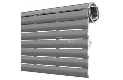 AriaLuce 50 Pinto Volet Roulant en Aluminium Isolé de Densité Moyenne