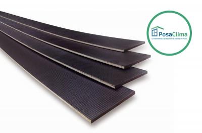 Profil PosaClima Battuta pour contre-châssis en bois Thermoframe d'épaisseur réduite