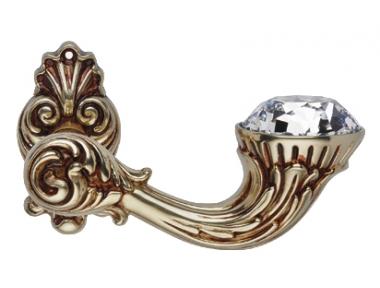 Brillant Diamond Or Française Poignée de Porte sur Rosette Linea Calì Vintage