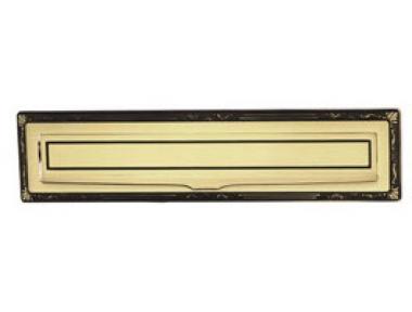 Sorriso Letterbox plaque en laiton PFS Pasini