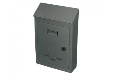 Mail Box avec serrure cylindre en fer peint gris IBFM