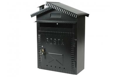 Mailbox médias Fer Forgé Painted Black IBFM